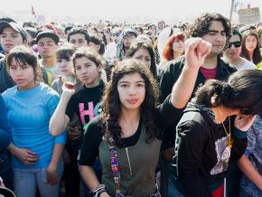 Chilean students are taking to the streets in defense of public education.