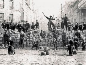Communards at the barricades in Paris