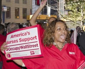 Nurses bring their solidarity to Occupy Wall Street