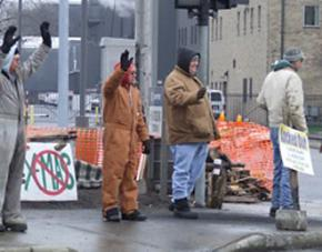 On the picket line at Cooper Tire & Rubber