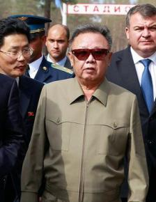 Kim Jong-il during a visit to Russia