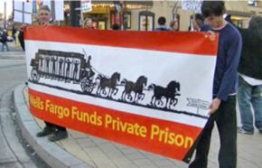 Occupy D.C. protests outside a Wells Fargo branch