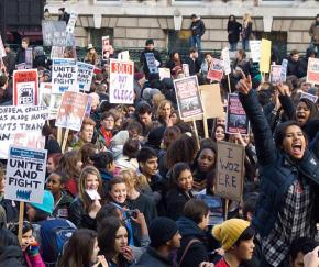British students protest against rising fees and budget cuts to education