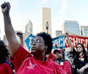 Occupy and labor activists joined in a day of solidarity and protest in Chicago in November