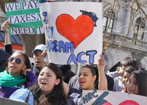 Protesters in New York City join in the growing call for passage of the DREAM Act