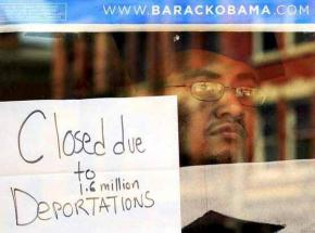 A sit-in protester closes down Obama 2012 campaign headquarters in Cincinnati