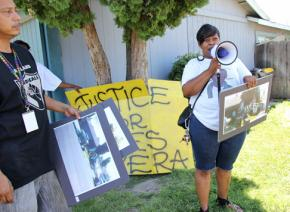 Speaking on the two-year anniversary of the police murder of James Earl Rivera Jr. in Stockton, Calif.