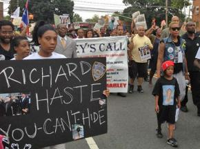 The last of 18 weekly vigils for Ramarley Graham drew hundreds of people to demonstrate in the Bronx