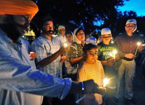 A vigil for the victims of the Sikh temple massacre in Wisconsin