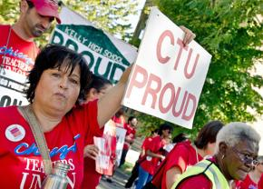 Teachers rallied and marched alongside parents, students and supporters on Saturday
