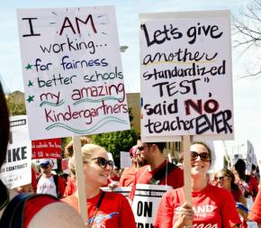 Striking Chicago teachers protest the dominance of testing over their profession