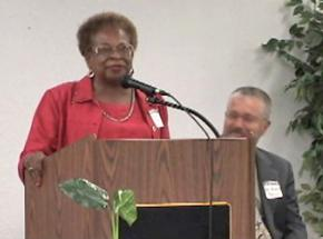 Marilyn Luper-Hildreth speaking out in defense of affirmative action