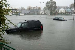 Cars abandoned in the streets as flooding hits Staten Island