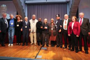 Members of the jury for the Russell Tribunal on Palestine session in New York City