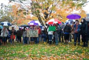 UMass Amherst students protest the culture of silence around sexual violence