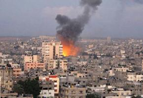Another explosion rocks Gaza City as israeli warplanes carry out new attacks