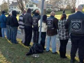 Protesters prepare to unwelcome Westboro Baptists in Woodbury, Connecticut