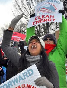 Protesters march and rally against the Keysote XL pipeline and accelerating climate crises