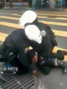Video footage from a cell phone captures San Francisco police brutalizing an unarmed man