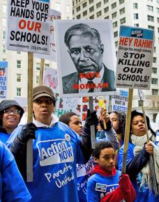 Chicago parents and students gather in Daley Plaza to protest racist school closures