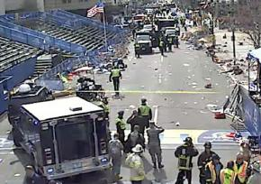 Aftermath of the explosions at the Boston Marathon