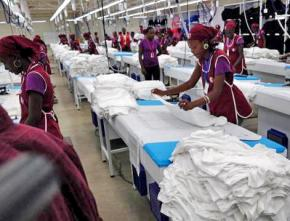 Garment workers in Haiti's Caracol free trade district