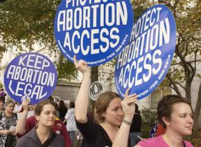 Protesters rally to defend access to abortion