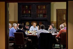 Barack Obama speaks at a summit of G8 leaders held at Camp David