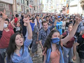 A massive demonstration retook Gezi Park in Istanbul's Taksim Square