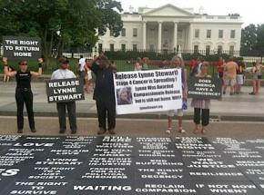 Protesters outside the White House to call for compassionate release for Lynne Stewart