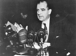Witch-hunter Joseph McCarthy at Senate hearings in 1954