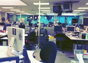 The empty newsroom