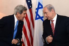 Secretary of State John Kerry meeting with Israeli Prime Minister Benjamin Netanyahu