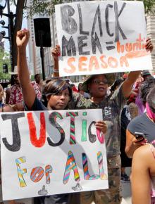 Protesting Trayvon Martin's murder and the targeting of young Black men