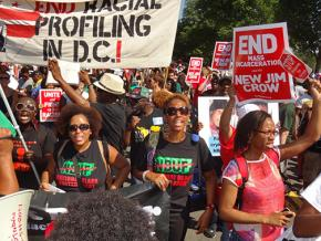 Activists from Washington, D.C., bring their message to the march