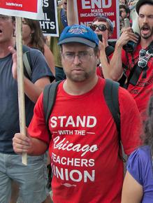 Demonstrators at the March on Washington showed their solidarity with Chicago teachers