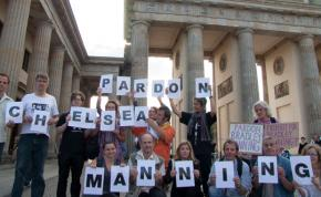 Chelsea Manning supporters rally in Berlin