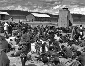 Thompson Falls prison camp, where hundreds suspected of being Mau Mau resistance fighters were interned