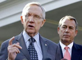 Senate Majority Leader Harry Reid and House Speaker John Boehner