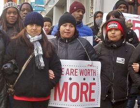 On the march in the Fight for 15 in Chicago