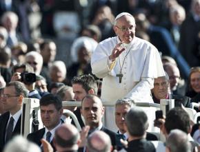 Pope Francis at his inauguration