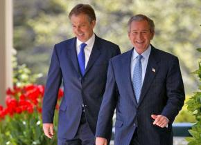 Tony Blair and George Bush at the White House