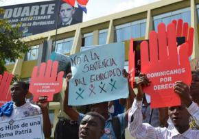 Protesters oppose the Dominican Republic's Constitutional Court Ruling 168-13