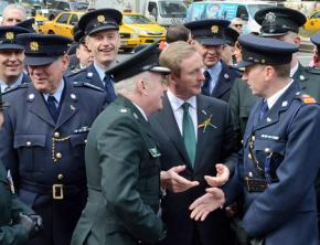 Members of the PSNI gathered to march in New York's St. Patrick's Day Parade