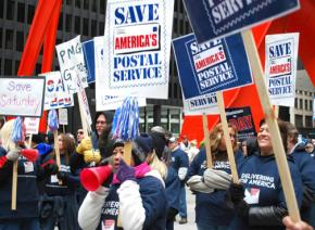 Gathered in Chicago for the APWU national day of action in 2012