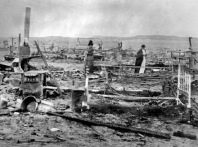 The ruins of the Ludlow workers' camp after the massacre