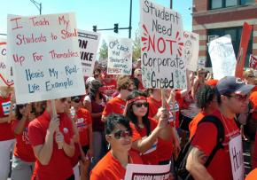 Chicago teachers on the march for education justice and a fair contract
