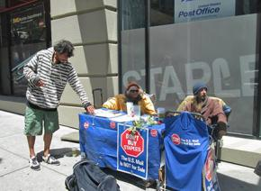 Occupy activists have taken up the Stop Staples campaign in San Francisco