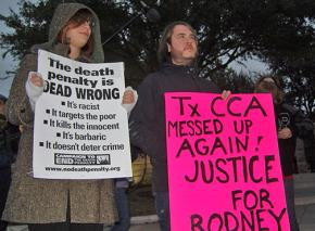 Protesting for justice for Texas death row inmate Rodney Reed