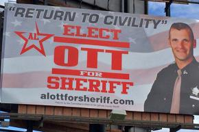 Billboard for an Indiana election campaign